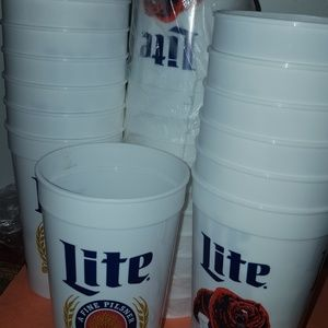 25PC  Lite Beer CHICAGO BEARS BPA Free Reusable Pl